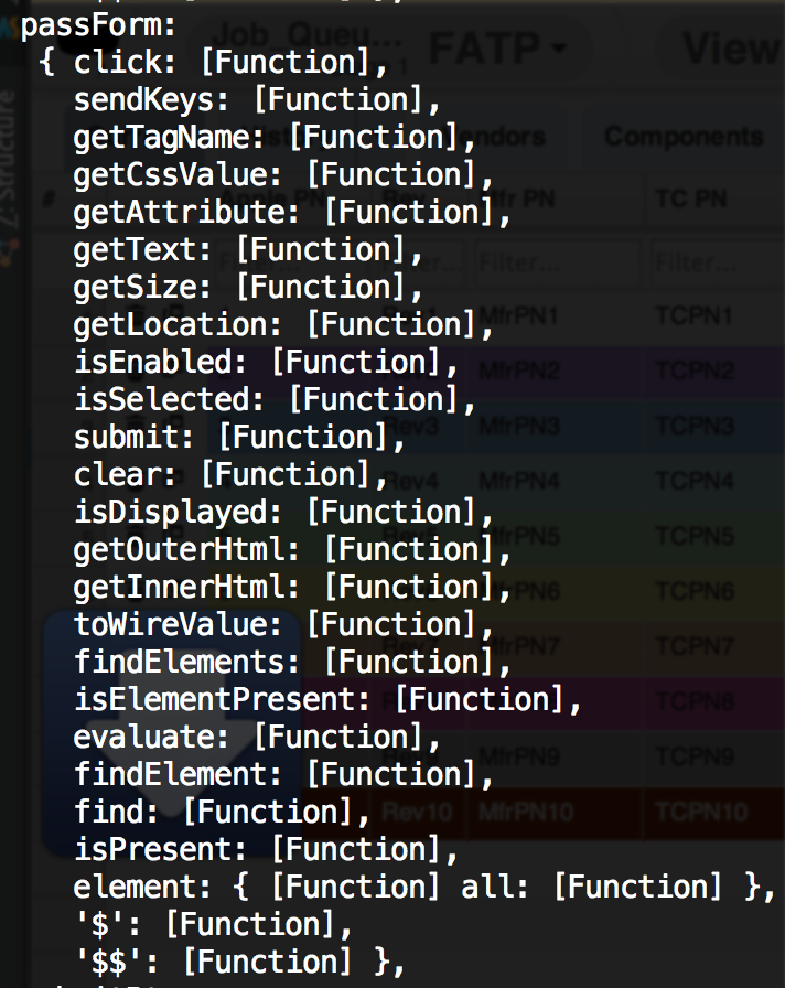 web element functions